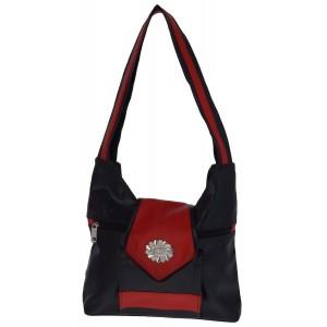 Udyog Handbag (Black & Red) 445A